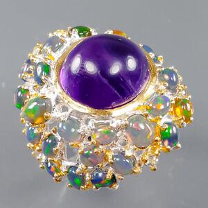 Women jewellery Art Amethyst Ring Silver 925 Sterling  Size 8 /R163749