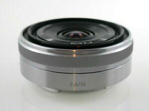 Sony SEL E-Mount 16 mm f/2.8 Lens For E-Mount - Silver