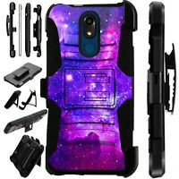 Luxguard Case for LG Phone Holster Kick Stand Cover PURPLE UNIVERSE