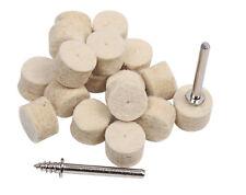 17pc Round 13mm Wool Wheel Dremel Rotary Drill Bit Polishing Buffing Polish Felt