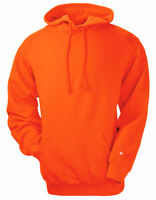 Badger Men's Front Pouch Pocket Drawcord Rib Knit Winter Hooded Sweatshirt. 1254
