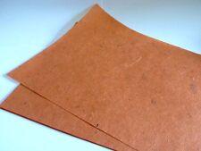 10x Handmade Textured Burnt Orange Mulberry Paper NEW