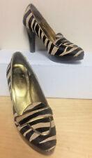 BODEN shoes US size 6.5 EUR size 37 CALF HAIR animal print loafer platform heels