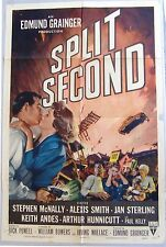 SPLIT SECOND Original Movie One Sheet Poster. RKO 1953