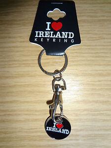 Trolley Token Keyring I Love Ireland