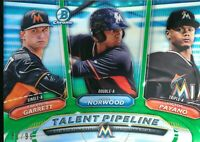 2018 Bowman Chrome Talent Pipeline Green Refractor /99 Garrett Norwood Payano RC