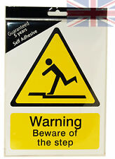 Warning Beware Of The Step Sign Quality Hard Plastic - None Fade