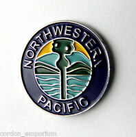 NORTH WESTERN PACIFIC US RAILROAD LAPEL PIN BADGE 1 INCH