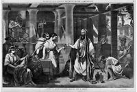 ELIEZER, SERVANT OF ABRAHAM PRESENTING GIFTS TO REBEKAH