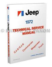 1972 Jeep Repair Shop Manual CJ5 CJ6 Commando Wagoneer J10 J20 Truck CJ 5 6