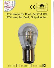 Ampoule avec 15 SMD LED BAY 15D feux position imperméable IP65 BAY-15D 10 - 30V