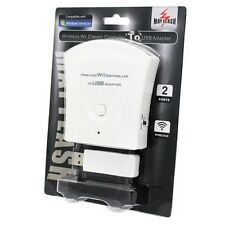 New Wii - Dual Ports Wireless Classic Controller to PC USB Adapter Mayflash