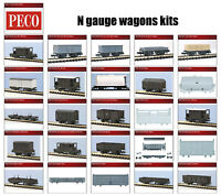 N gauge wagons plastic model kits - Peco KNR range