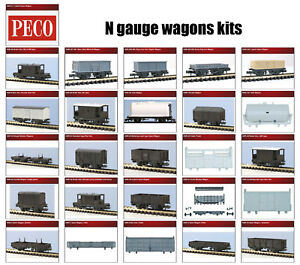 N gauge wagons plastic model kits - Peco KNR range