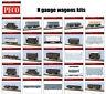 N gauge wagons kits (26 differents models) - Peco KNR range - F1
