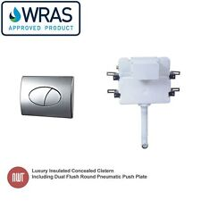 Insulated Concealed Cistern inc - Dual Flush Oval Chrome Pneumatic Push Plate