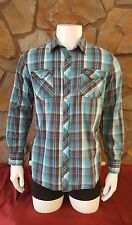 Skully Men's Button Front Long Sleeve Shirt Size Large