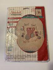 New Plaid Stitched Impressions Embossed Cross Stitch Christmas Stocking NIP