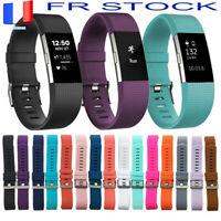 Bracelet de Remplacement Sport Strap Wrist Silicone Doux Pour Fitbit Charge 2