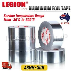 Aluminium Foil Adhesive Sealing Tape Heating Duct Silver Repairs 48mm