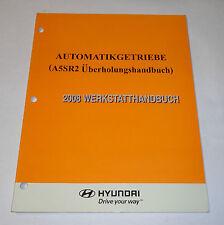 Werkstatthandbuch 2008 Hyundai Automatik - Getriebe A5SR2, Stand 11/2007