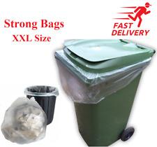 More details for strong outdoor wheelie bin liners waste bin bags refuse scaks fits bins xxl size