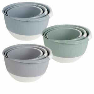 Rührschüssel Set 3 tlg - 2 bis 5 Liter - Salat Schüssel Kochschüssel Schüsseln
