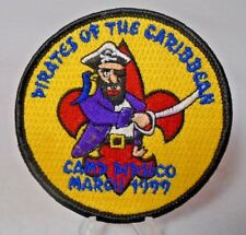 Vintage Boy Scout Camp Pipsico Pirates of the Caribbean Sew On Patch March 1999