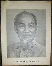 Ho Chi Minh - Rare 1969 Vintage Poster - Vc - Nlf - Vietnam War, Viet Cong - Nva