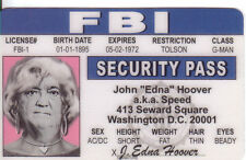 "J Edgar Hoover ""EDNA"" Washington DC ID collector card Drivers License"