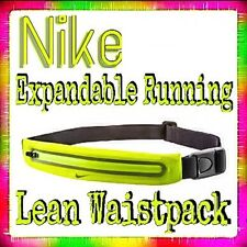 NIKE Expandable RUNNING LEAN Waistpack Bum Bag REDUCES BOUNCE Volt / Black