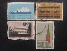 Australia Opera House/ Architecture 1972 - Set of 4 - Good Used Condition