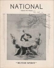 "Robert Stack Autograph on ""Blithe Spirit"", 1944, Playbill, National Theater"