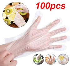 100Pcs Food Service Plastic Gloves Home Clear PE Safety Work Gloves Transparent