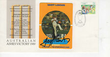 GEOFF LAWSON HAND SIGNED FIRST DAY COVER '1989 ASHES VICTORY' AUSTRALIAN CRICKET