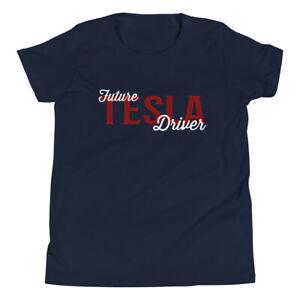 Future Tesla Driver EV lover. Model S, Model X, Model 3, Model Y. Youth t-Shirt