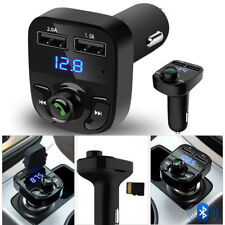 Wireless Bluetooth Handfree Car Kit FM Transmitter MP3 Player Dual USB Charger b