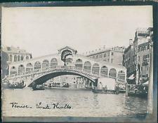 Italie, Venise, Le Pont du Rialto, ca.1910, vintage silver print Vintage silver