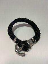 """Paul Hewitt Damen Anker Armband """"PHREP"""" Leder Tau Silber Gr. M 16 cm"""