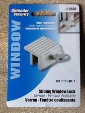 Sliding Window Lock Defender Security U-9800 Heavy Duty Design Pack 2 New