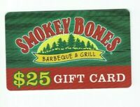 Smokey Bones Gift Card Restaurant / Barbeque & Grill - No Value - I Combine Ship