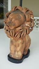Aldo Londi for Bitossi Italy modernist Lion ceramic pottery lamp vintage rare