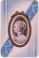 Playing Cards 1 Single Card Old Vintage GEORGIAN Lady Girl CAMEO ART PORTRAIT