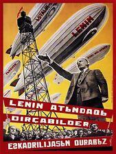 Union soviétique PROPAGANDE Lénine dirigeable flotte Art Poster Print lv7035