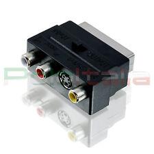 Adattatore SCART audio video RCA | convertitore presa tv decoder lettore dvd vhs
