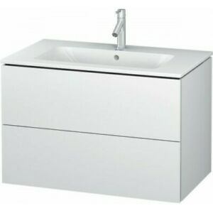 Duravit L-Cube Vanity Unit 2 Drawers White High Gloss 820 mm