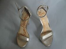 Sam Edelman Women's Patti Dress Heels Nude Leather Sandal Size 7.5 M