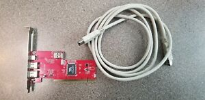 FireWire Card For Laptops PCI2 External + 1 Internal Port With 6 ft Cable