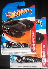 2011 Hot Wheels THRILL RACERS #217 ∞ PROTOTYPE H-24 ∞ LOT OF 2