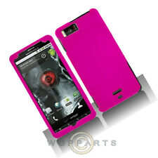 Motorola MB810 Droid X/X2 Shield Hot Pink Rubberized Case Cover Shell Protector